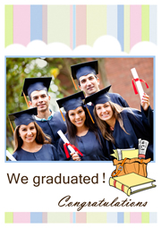 greeting card template for happy graduation