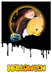 spooky greeting card template for Halloween