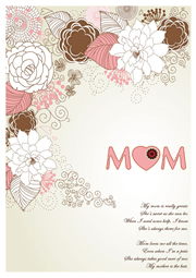 greeting card with best wishes for mom