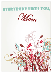 beautiful greeting card template for Mother's Day