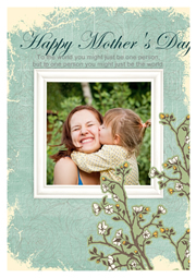 mothers day card with her sweet smile