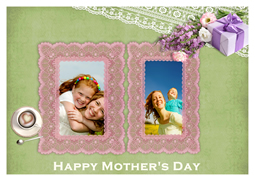 greeting card with mother's happy memories