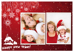 happy new year card with children