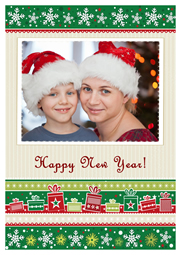 new year card with sweet times