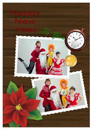 happy new year greeting card sample
