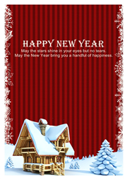 new year wishes card template