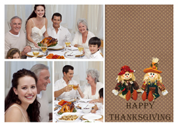 thanksgiving card with happy memories