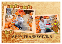 happy family greeting card template