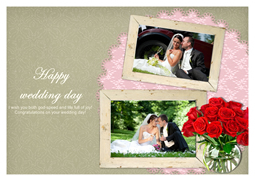 pretty wedding picture card