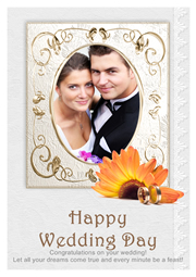 happy wedding card template