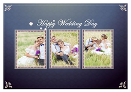 sweet wedding photo card