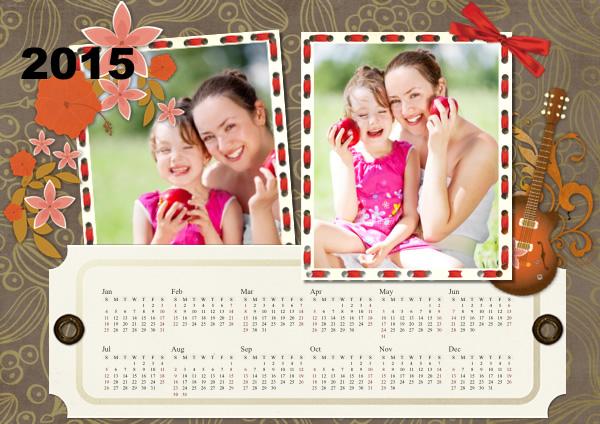 calendar samples templates collage photo calendars picture