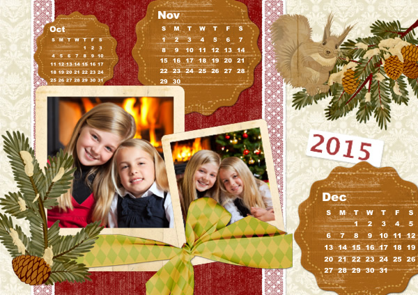 Calendar Samples Templates Collage Photo Calendars Picture