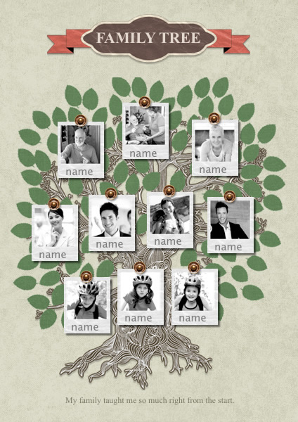 Family Tree Photo Collage Template Idealstalist
