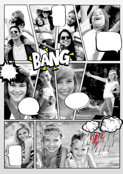 Comic Samples & Templates | Make a Comic Book - Picture Collage Maker