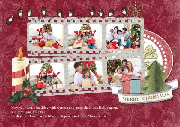 Greeting Card Samples Templates Photo Greeting Cards Picture - Christmas greeting card template