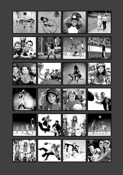 photo collage samples  greeting card samples  scrapbook
