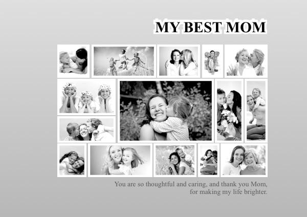 Photo Collage Samples, Greeting Card Samples, Scrapbook