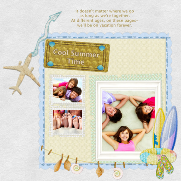 Travel Photo Scrapbook Printable Template For Cool Summer Time