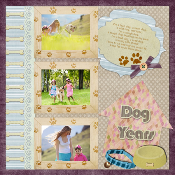 Scrapbook Album Of Dog Year