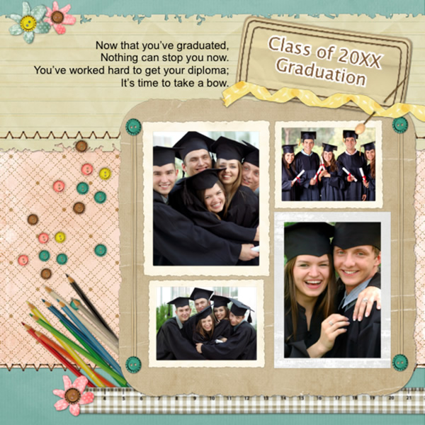 Scrapbook Layouts Template Custom