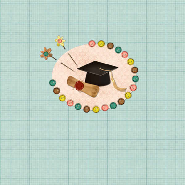 Graduation Scrapbook Template Photo