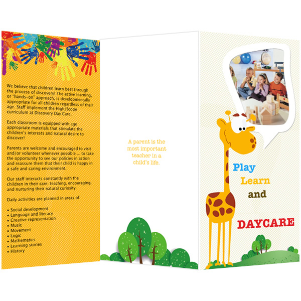 Brochure templates samples brochure maker publisher plus for Brochure template for kids