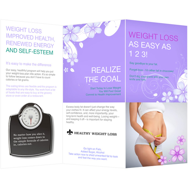 Brochure Template; Brochure Template For Weight Loss ...  Flyer Samples Templates