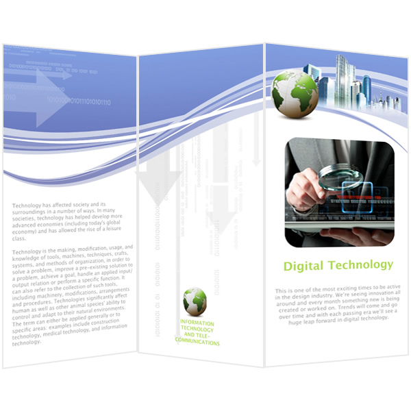 Brochure Templates Samples Brochure Maker Publisher Plus - Technology brochure template