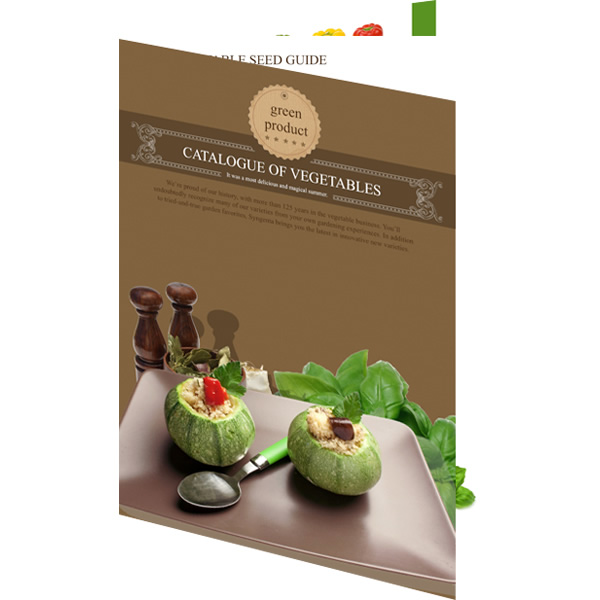 catalog template of vegetables