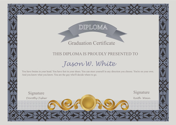 Certificates Templates & Sample – Design Excellent ...