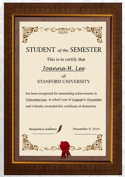 Printable Certificate Template ...  Certificate Samples