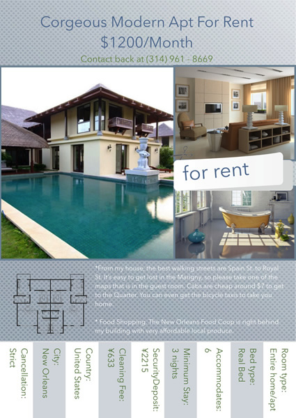 Apartments For Rent Flyer