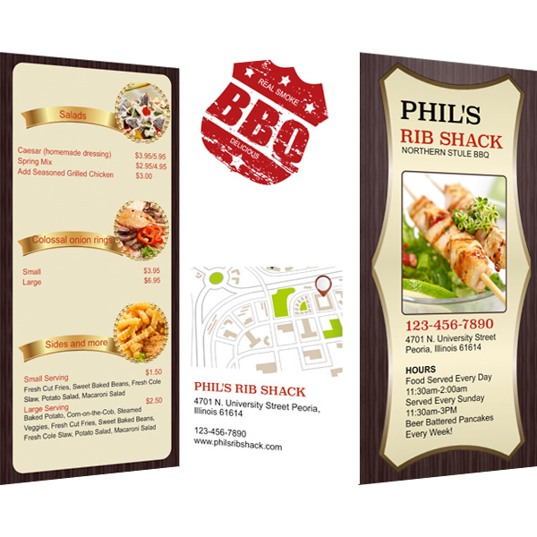 restaurant menu template publisher