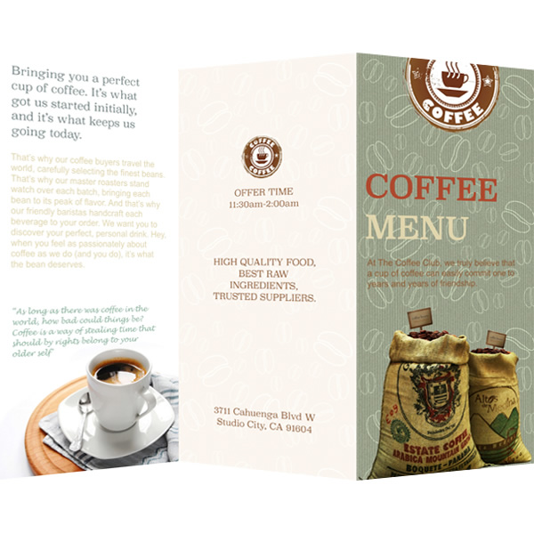 Full Coffee Menu Template