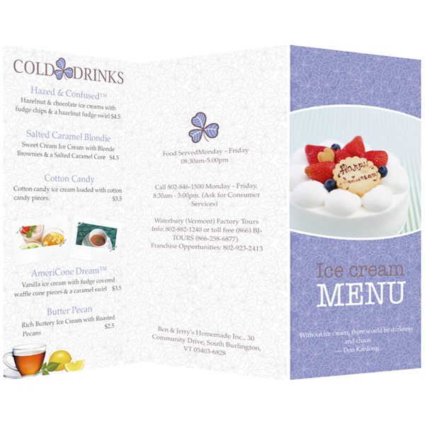 menu templates for publisher