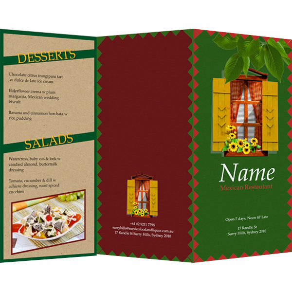 menu templates  u0026 samples
