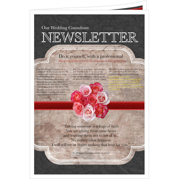 Newsletter templates samples newsletter publishing for Bridesmaid newsletter template