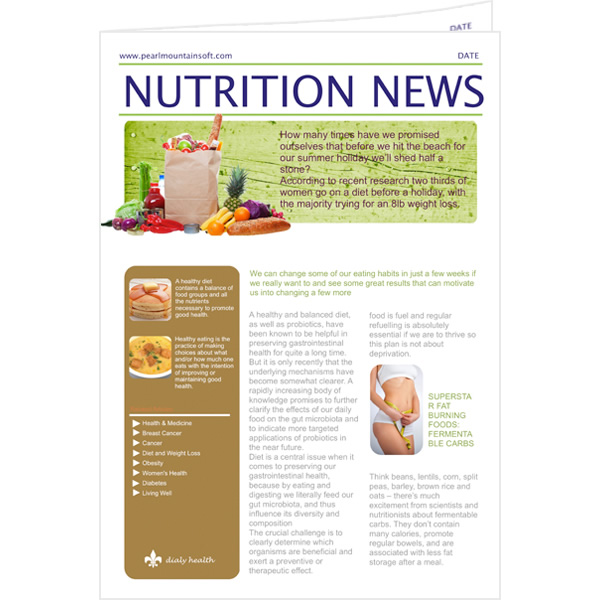 Nutrition newsletter templates free besto blog for Bridesmaid newsletter template