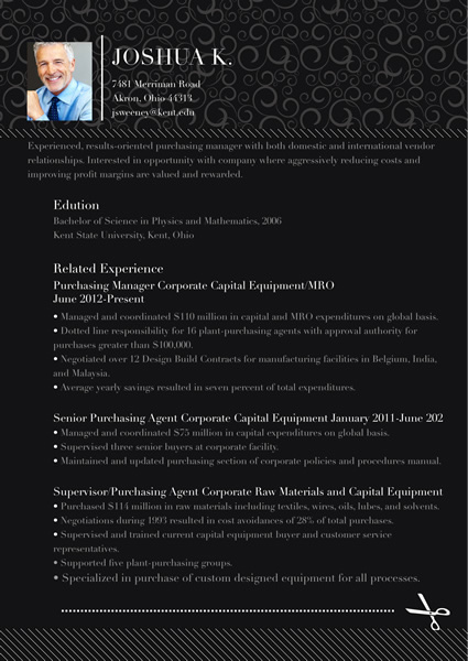Resume Templates And Samples · Black Resume Templates And Samples ...