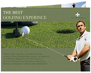 brochure for best golf experience