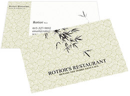 unique business card for restaurant