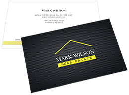 business card template for real estate
