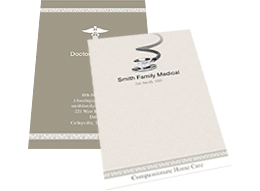 fancy business card template for medical