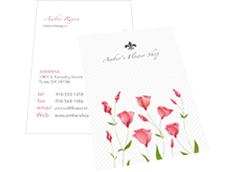 flower store business card template