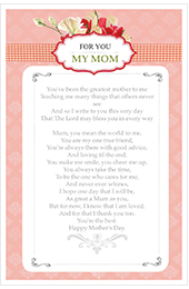 special card for my mom