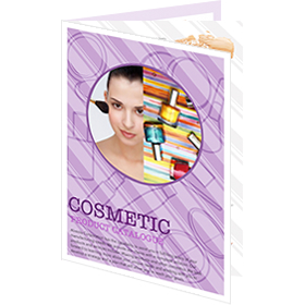 catalog template of popular cosmetic