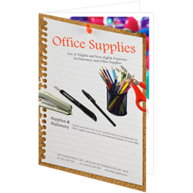 catalog template of practical office supplies