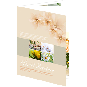 catalog template of florist