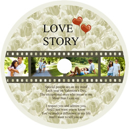 love story file disk cover template